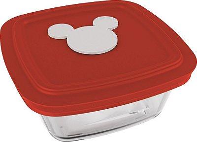 Assadeira Facilita Disney Baby com Tampa Preto e Vermelho 300ml - Nadir Figueiredo