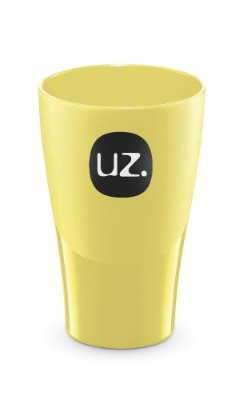 Copo 300ml Amarelo Claro Sólido - UZ