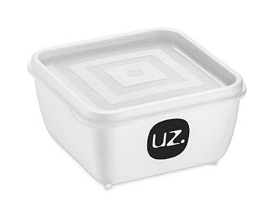Pote Multiuso Premium Quadrado 500ml Branco Sólido - UZ