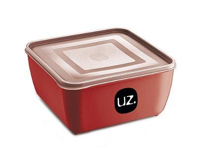 Pote Multiuso Premium Quadrado 500ml Vermelho Sólido - UZ