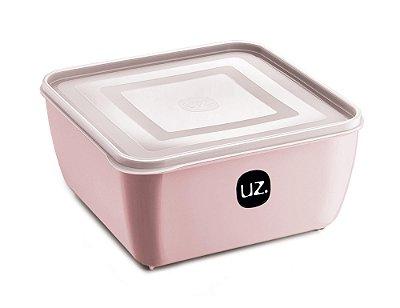 Pote Multiuso Premium Quadrado 1,5 Litros Rosa Sólido - UZ