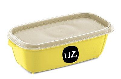Pote Multiuso Premium Retangular 500ml amarelo Claro Sólido - UZ