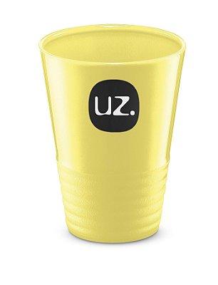 Copo Gomado 300ml Plus Amarelo Claro Sólido - UZ