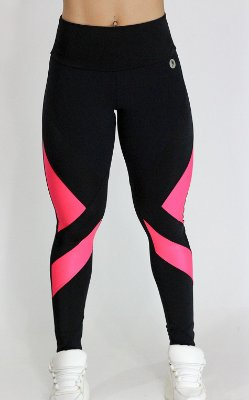 Legging Beca Preta Pink