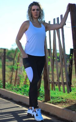 Legging Bolso Dry Branco