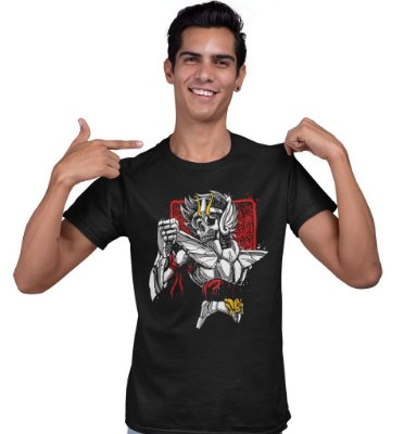 Camiseta Cavaleiros do Zodíaco – Skull Seiya