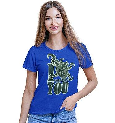 Camiseta Dungeon Geek – I Lovecraft You Azul