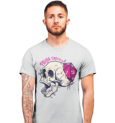 Camiseta Dungeon Geek – Falha Crítica Cinza