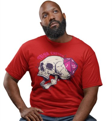 Camiseta Dungeon Geek – Falha Crítica Vermelha
