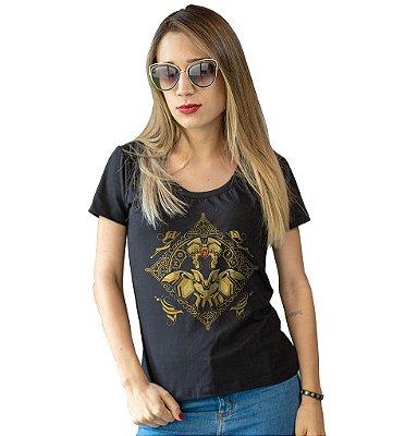 Camiseta Cavaleiros do Zodíaco - Armadura de Ouro de Gêmeos