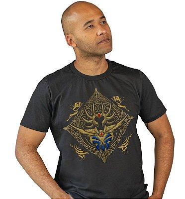 Camiseta Cavaleiros do Zodíaco - Armadura de Ouro de Câncer