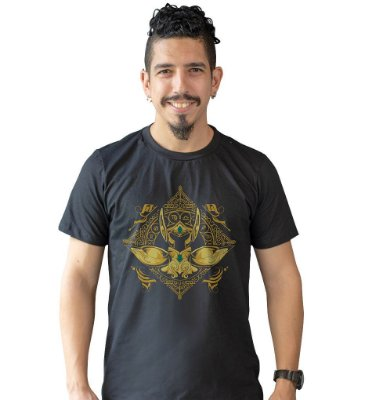 Camiseta Cavaleiros do Zodíaco - Armadura de Ouro de Aquário