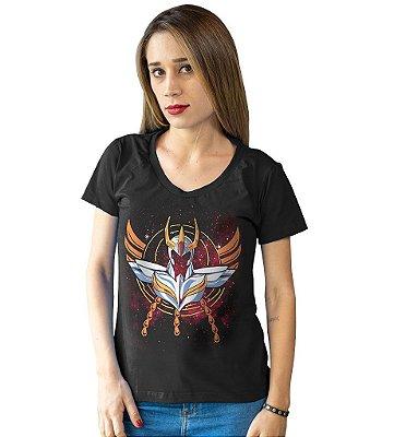 Camiseta Cavaleiros do Zodíaco - Armadura de Fênix