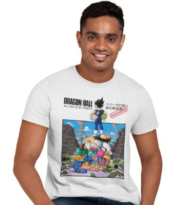 Camiseta Dragon Ball - All Kills of Vegeta