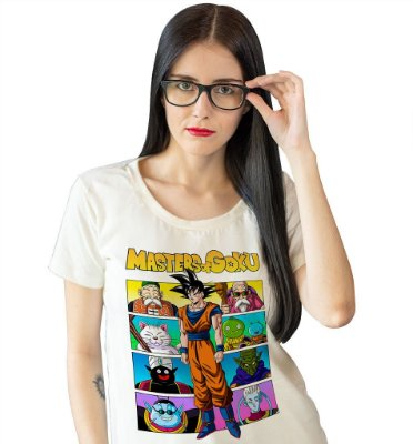 Camiseta Dragon Ball Z - Mestres de Goku
