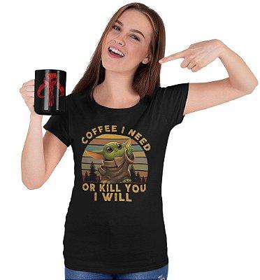 Camiseta The Mandalorian - Quero Café!