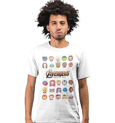 Camiseta Vingadores - Emoji