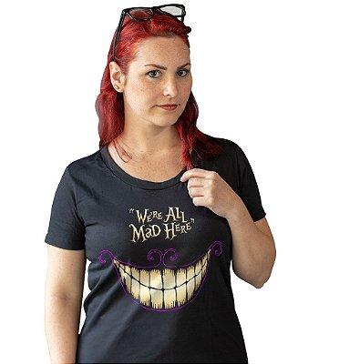 Camiseta Alice no País das Maravilhas - Sorriso de Gato