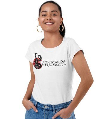 Camiseta Crônicas da Meia Noite - Branca