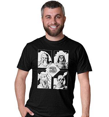 Camiseta Azecos - Rola o Dado Épica - Preta