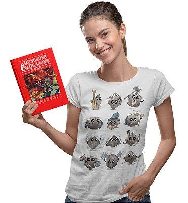 Camiseta Dungeons & Dragons - Dados Fofinhos