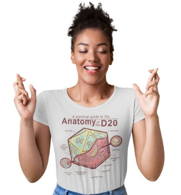 Camiseta Dungeons & Dragons - Anatomia do D20