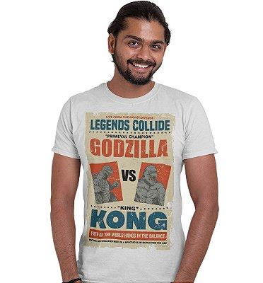 Camiseta King Kong Vs Godzilla