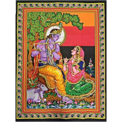 Pano Indiano Radha e Krishna