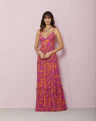 Vestido Toque de Seda Estampado