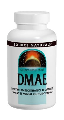DMAE DIMETHYLAMINOETHANOL BITARTRATE 351MG - 100 Tabletes - Suporta Concentração Mental - Source Naturals