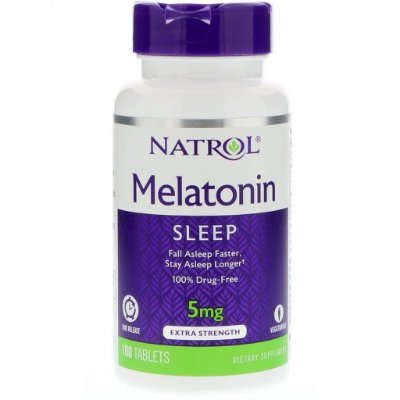 Melatonina 5 mg - Time Release 100 Comprimidos - Natrol