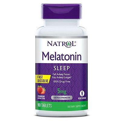 Melatonina 5 mg - Fast Dissolve (Sublingual) 90 Comprimidos - Natrol