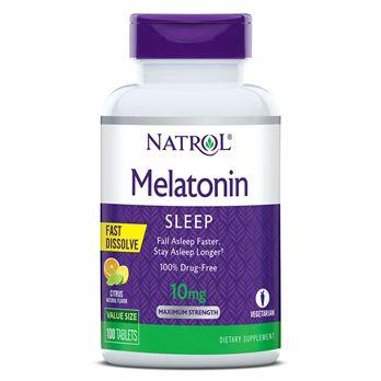 Melatonina 10 mg - Fast Dissolve (sublingual) 100 Comprimidos - Natrol