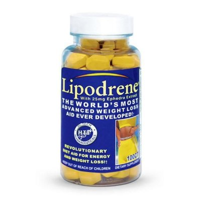 Lipodrene 25mg Efedra 100 tabletes - Hi-Tech