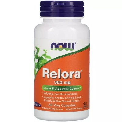 Relora 300mg - 60 Cápsulas - NOW Foods