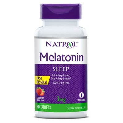Melatonina 3 mg - Fast Dissolve - 90 Tabletes - Natrol