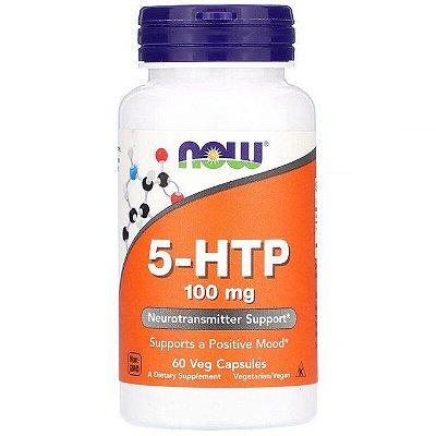 5-HTP 100mg - 60 Cápsulas - Now Foods