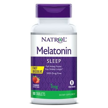 Melatonina 1 mg - Fast Dissolve - 90 Tablets - Natrol