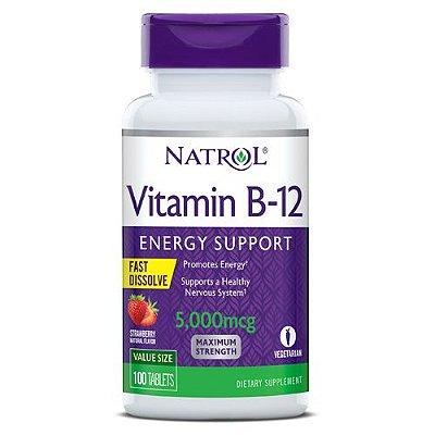 Vitamina B12 5000 mcg - Fast Dissolve - 100 Tablets - Natrol