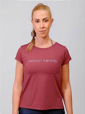 Blusa Dry Com Racho Beach Tennis RED VELVET