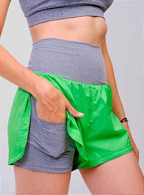 Shorts Corrida Soave Com Bermuda VERDE E MESCLA