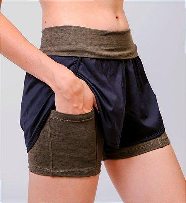 Shorts De Corrida Com Bermuda Dry Element VERDE MESCLA