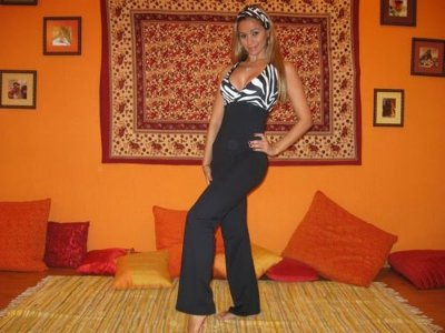 Macacão Com Busto em Zebra e Calça Bailarina