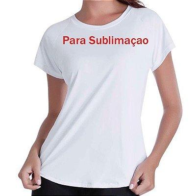 PROMOÇÃO - Pacote com 50 Camisetas Brancas Femininas 100% POLIÉSTER PARA SUBLIMAÇÃO.R$5,90 Cada
