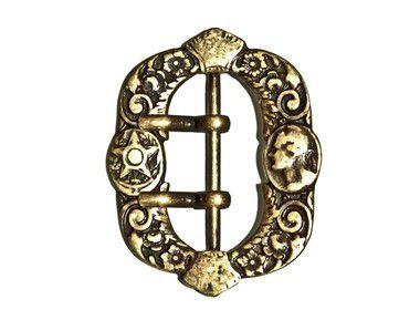 Fivela 122 - Estilo Antigo Princesa Isabel - Niquelada / Ouro Velho - 43mm