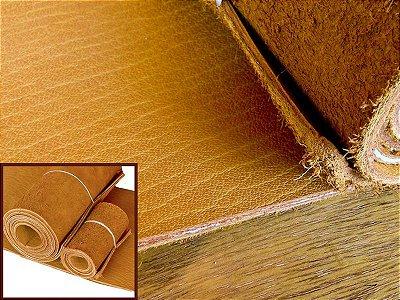 Rolos de Sola Cromo de Búfalo - Cor: Mostarda - 4.0/6.0 mm