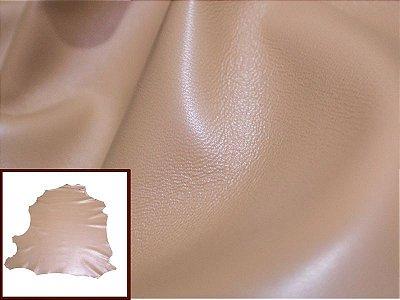 Pelica de Cabra - Cor: Amêndoa - 0.6/0.8 mm - Lote: PL-0203