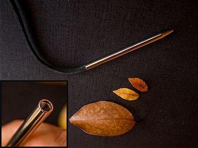 Agulhão para Costura com Tira de Couro - 7,7 cm x 5 mm