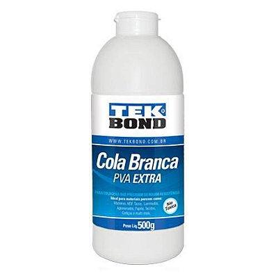 Cola Branca PVA Extra - Para duplagem de couro - 500 g