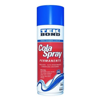 Cola Spray Permanente - Para estofamentos, revestimentos e uso geral - 500 ml